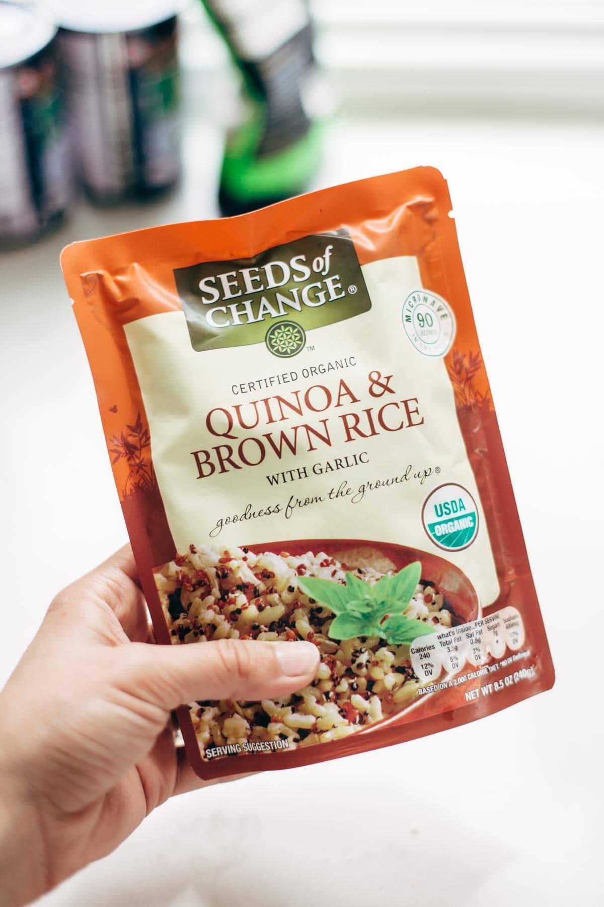Seeds of Change for vegetarian meatballs   pinchofyum.com