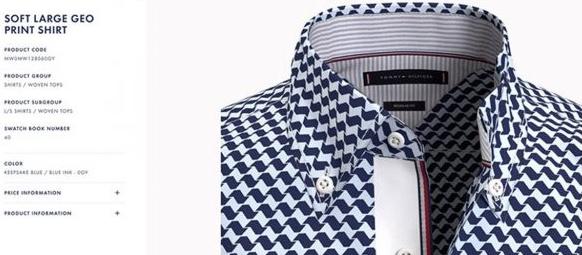 Una camisa de Tommy Hilfiger diseñada ya en 3D