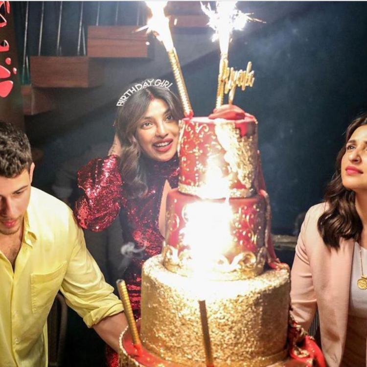 Image result for Priyanka Chopra wears sindoor at birthday party