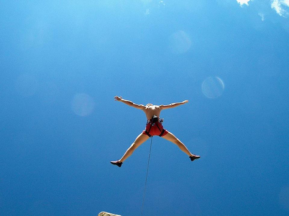 登る, 無料登る, 落ちる, スポーツクライミング