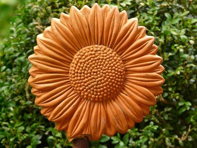 Sonnenblume Keramik Rtlich  Kostenloses Foto auf Pixabay