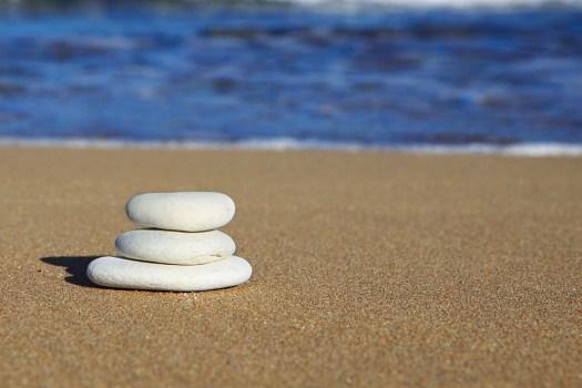 Beach, Rocce, Equilibrio, Blu, Costa, Mucchio, Ocean