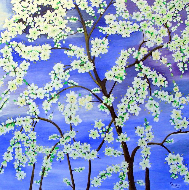 Free Illustration Tree Flowers Painting Image Art