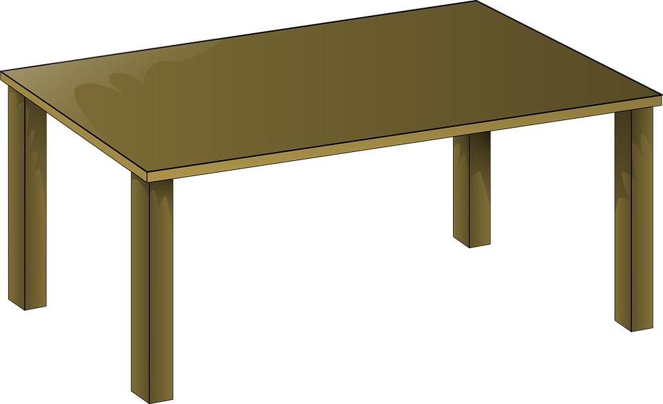 Table Wooden Desk · Free vector graphic on Pixabay