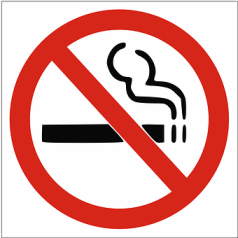 No Smoking, Logo, Symbols, Warning, Red