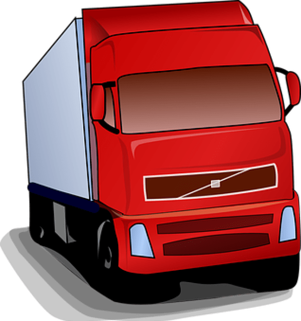 Truck, Lorry, Red, Road, Transportation