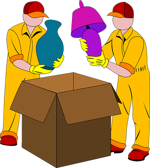 Movers, Packing, Box, Light, Vase, Pack