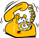 Telephone Rotary Yellow Dial Ringing Talk