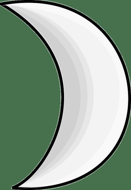 Gambar Bulan Hitam Putih : gambar, bulan, hitam, putih, Crescent, Vector, Graphic, Pixabay