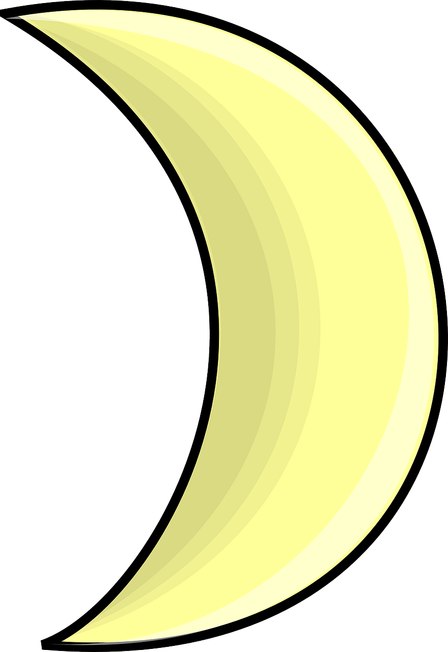 Bulan Sabit Vector : bulan, sabit, vector, Crescent, Vector, Graphic, Pixabay