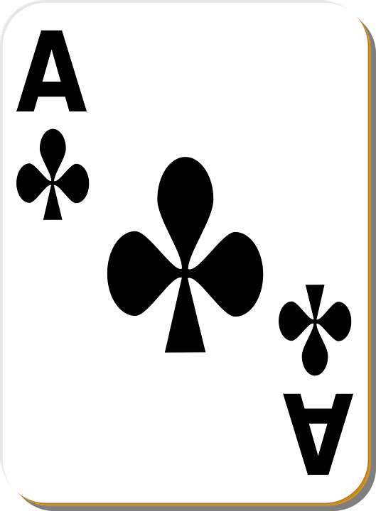 Free Vector Graphic Playing Card Ace Clubs Game Free