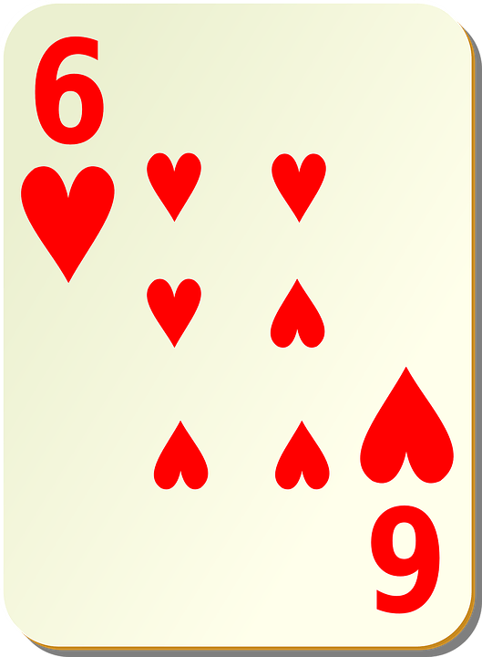 six hearts card free
