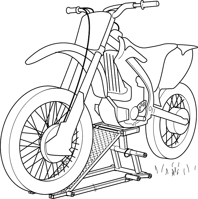 Motorcycle Sketch Black · Free vector graphic on Pixabay