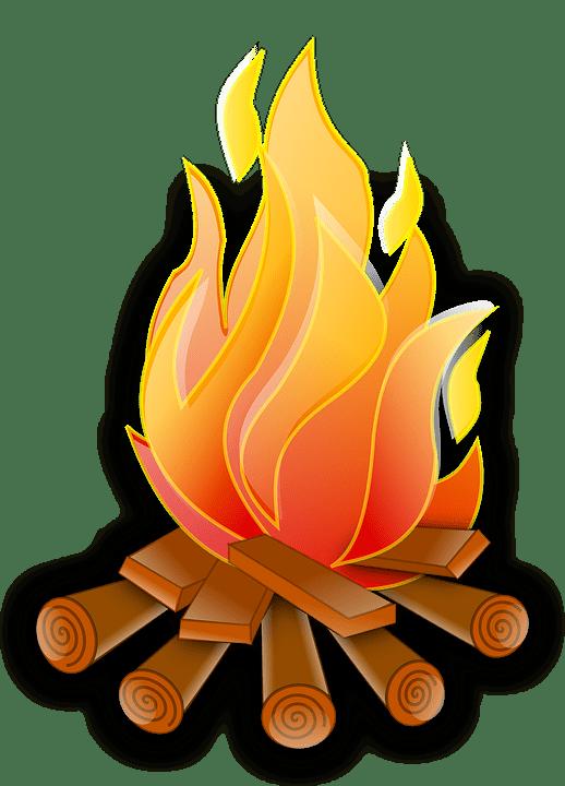 Lägerbåls eld