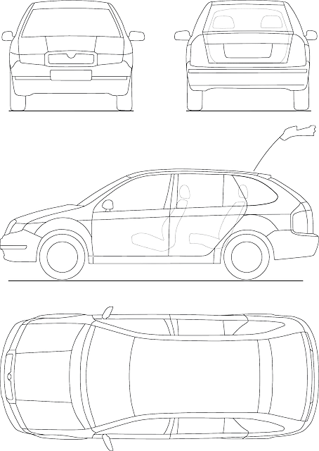 Blueprint Automobile Technical  Free vector graphic on