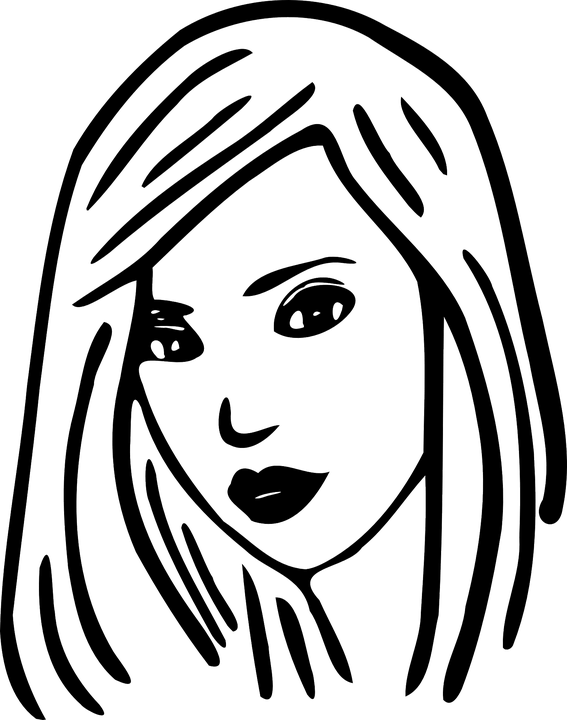 Shoulder Length Cut Woman · Free vector graphic on Pixabay