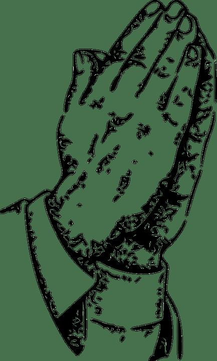 Praying Hands Man · Free vector graphic on Pixabay