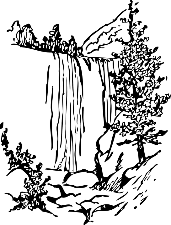 Waterfall Nature Water · Free vector graphic on Pixabay