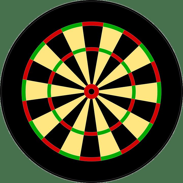 Dart Board Circle  Free vector graphic on Pixabay
