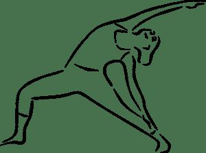 yoga pose trikonasana bikram stretching pixabay graphic