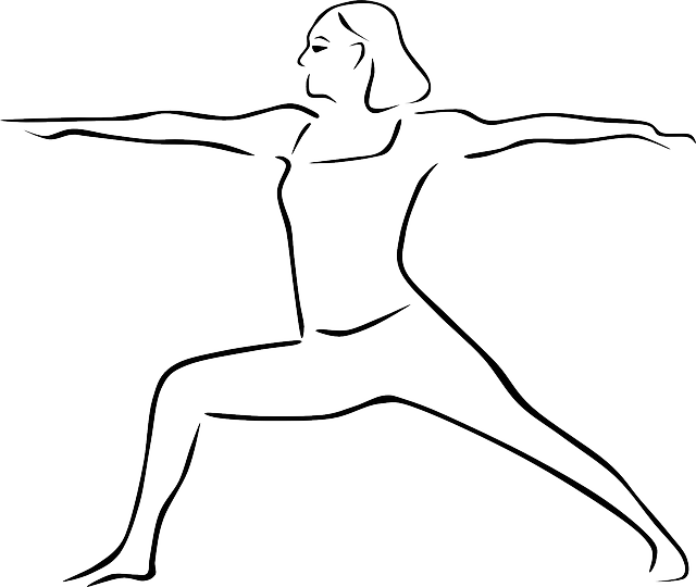 Yoga Youg Pose Virabhadrasana · Free vector graphic on Pixabay