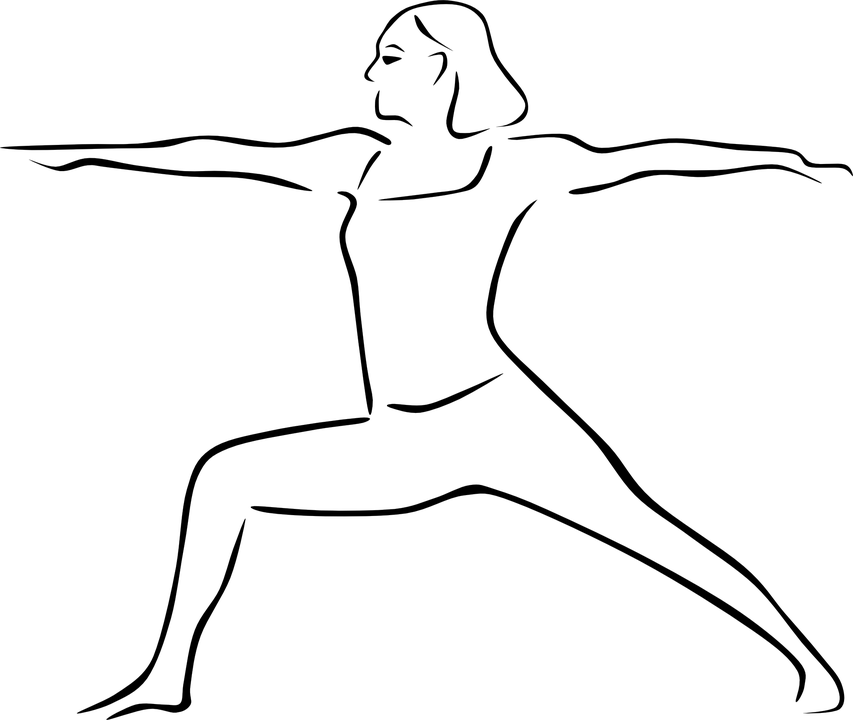 Yoga Youg Pose Virabhadrasana · Free vector graphic on Pixabay