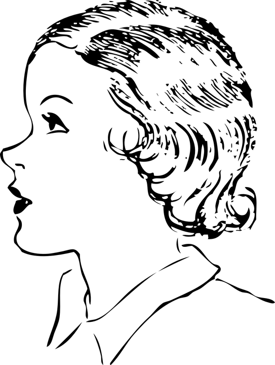 Woman Side Profile Face Short · Free vector graphic on Pixabay