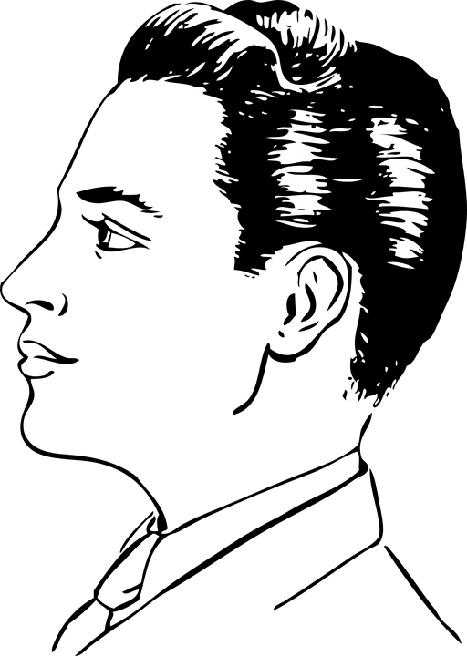 Man Face Side Profile · Free vector graphic on Pixabay