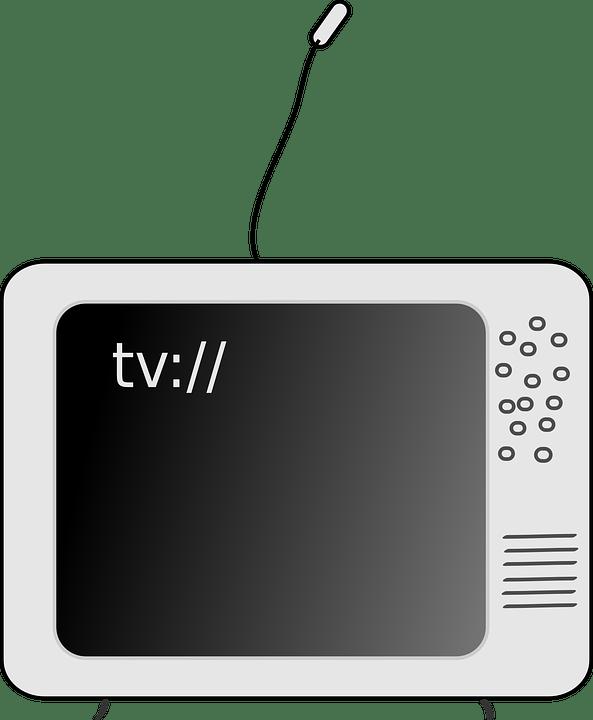 Gambar Tv Animasi : gambar, animasi, Television, Black, Vector, Graphic, Pixabay