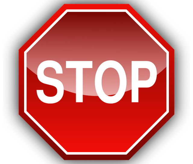 Stop Sign Traffic Sign Symbol Roads Red