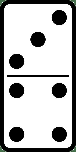 Kostenlose Vektorgrafik: Domino, Dominosteine, Spiel