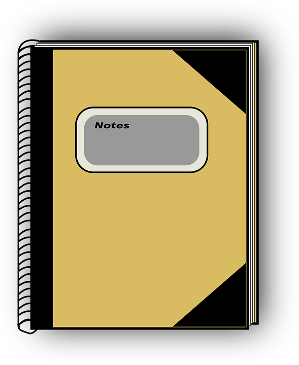 Gambar Buku Tulis Animasi : gambar, tulis, animasi, Catatan, Sekolah, Pendidikan, Gambar, Vektor, Gratis, Pixabay