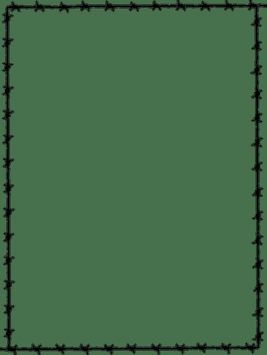 Cadre Frontière Page Fil De Fer · Images Vectorielles