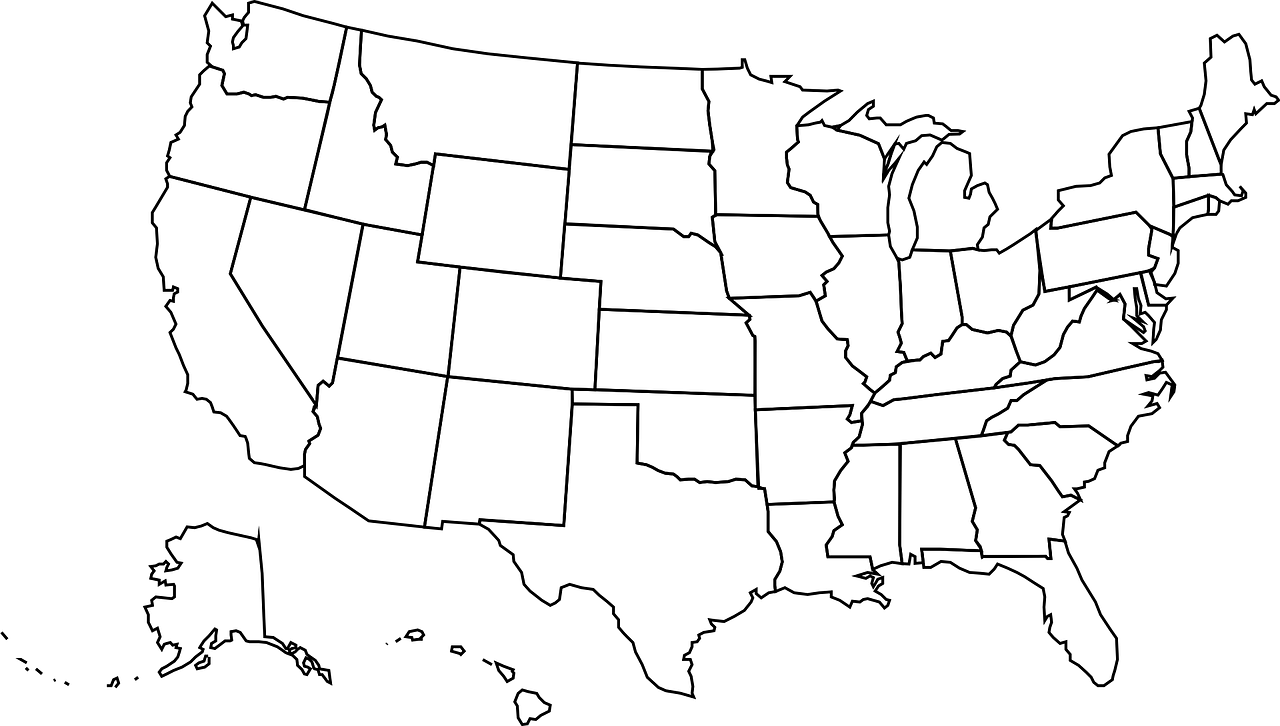 Color it with a pattern (dots, stripes, etc.). Usa Map United Free Vector Graphic On Pixabay