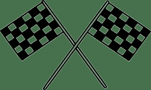 Drapeaux Damier Finition · Images vectorielles gratuites