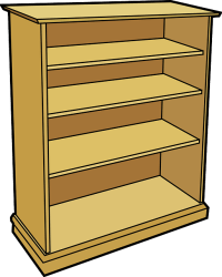 bookshelf shelves bookcase vector wooden pixabay graphic