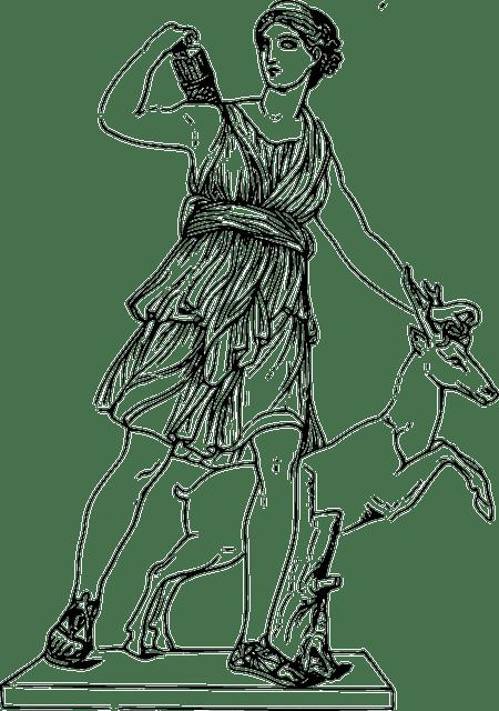 Free vector graphic: Goddess, Greek, Artemis, Hunting