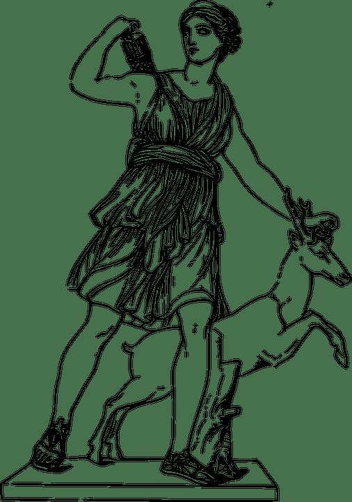 Image vectorielle gratuite: Déesse, Grecque, Artemis, La