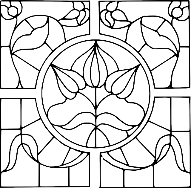 Free vector graphic: Pattern, Template, Stained Glass