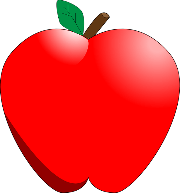 apple red fruit free vector graphic
