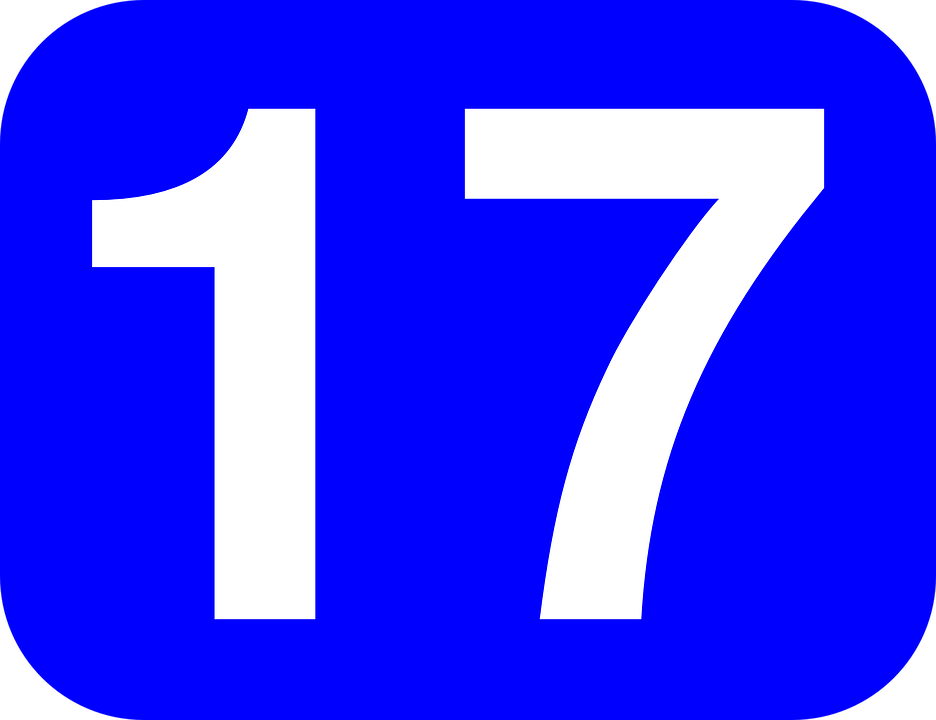 number seventeen 17 free