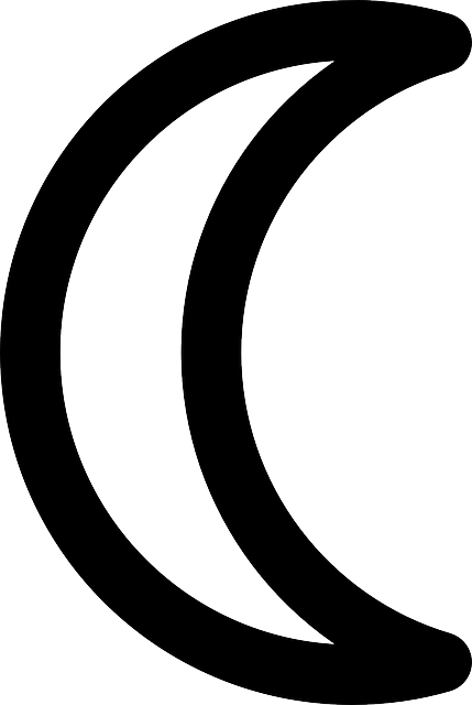 Gambar Bulan Hitam Putih : gambar, bulan, hitam, putih, Crescent, Night, Vector, Graphic, Pixabay