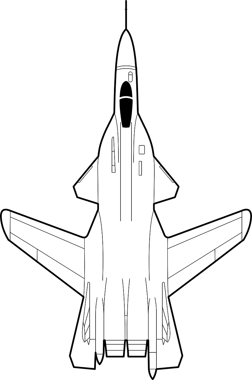 Sketsa Gambar Pesawat : sketsa, gambar, pesawat, Airplane, Fighter, Vector, Graphic, Pixabay