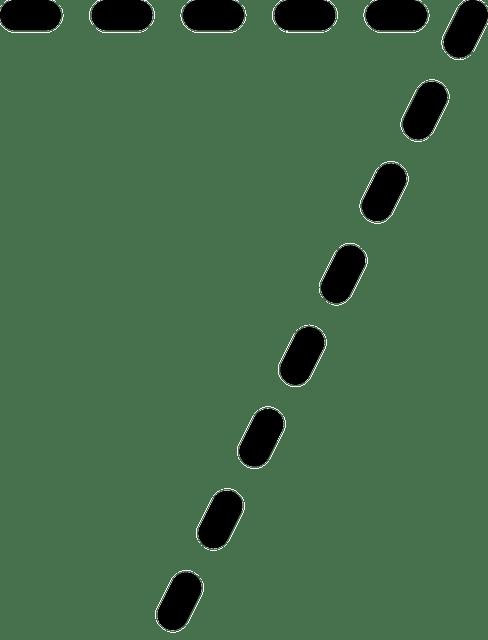 Imagem vetorial gratis: Números, Dígitos, Pontilhada, Sete