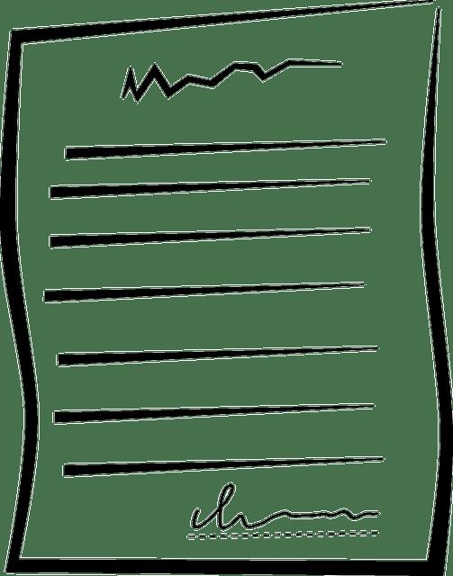 Documento De Papel Contrato · Gráficos vectoriales gratis