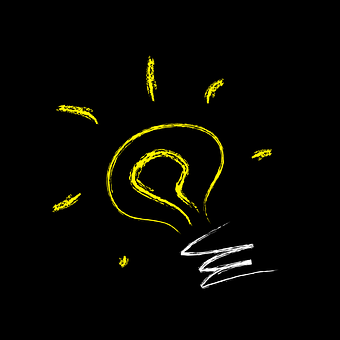 An image of a light bulb, in regards to being creative.