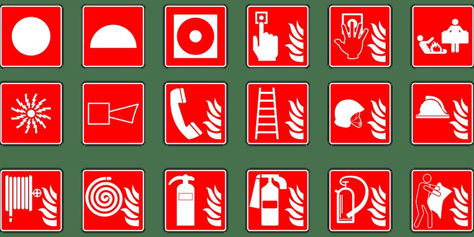 symbols emergency fire free