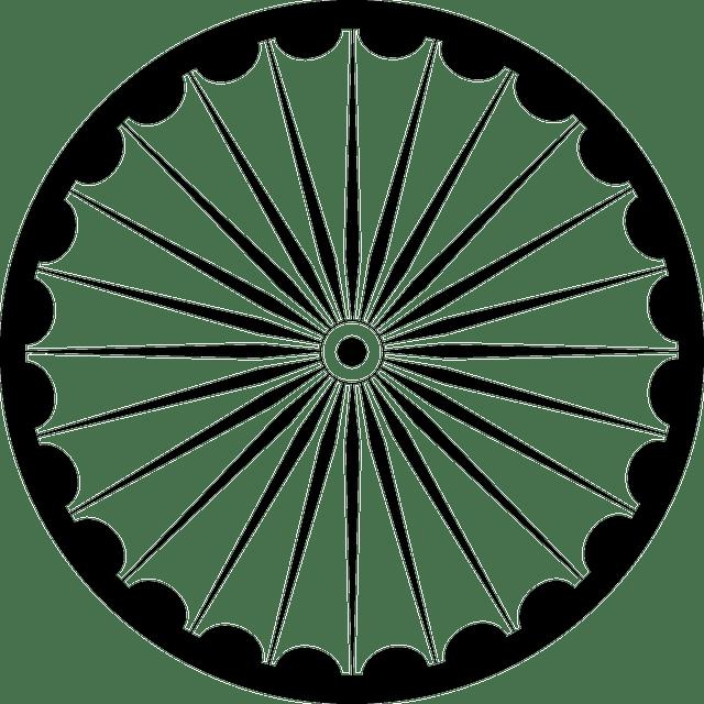 Wheel Spokes Asoka Chakra · Free vector graphic on Pixabay