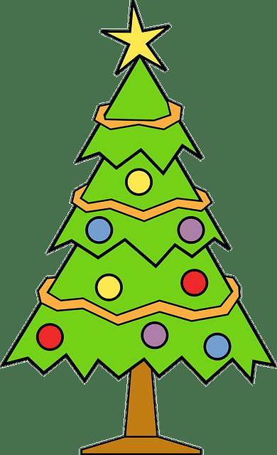 christmas tree free vector graphic
