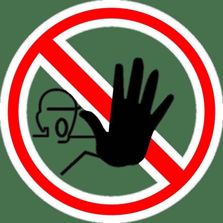 記号, 停止, 警告, 手, 禁止, シンボル, 方向, 赤, 円, ラウンド